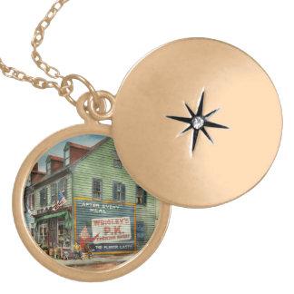 City - VA - C&G Grocery Store 1927 Locket Necklace