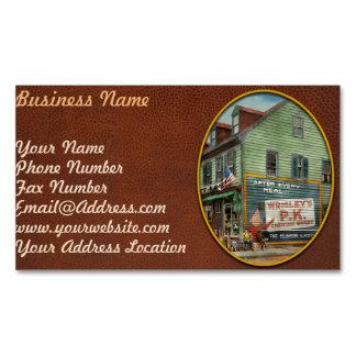 City - VA - C&G Grocery Store 1927 Magnetic Business Card