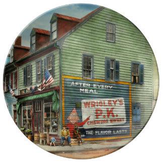 City - VA - C&G Grocery Store 1927 Porcelain Plate