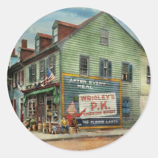 City - VA - C&G Grocery Store 1927 Round Sticker