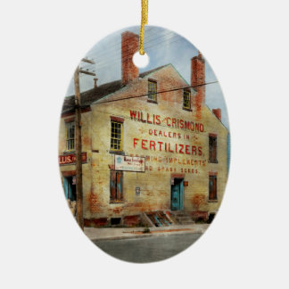 City - VA - Dealers in Fertilizers Ceramic Oval Ornament
