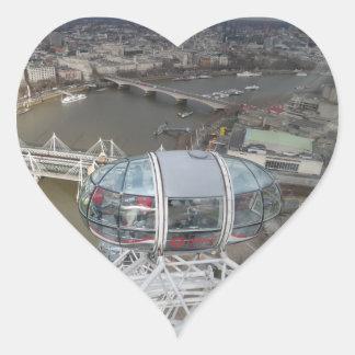City View from London Eye Heart Sticker