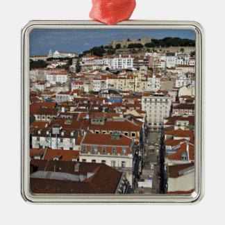 City view of Lisbon Metal Ornament