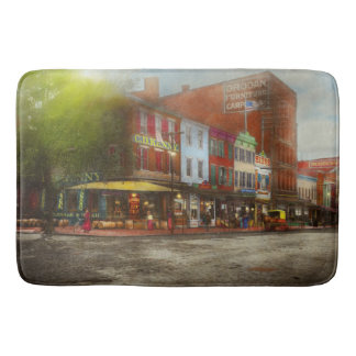 City - Washington DC - Life on 7th St 1912 Bath Mat
