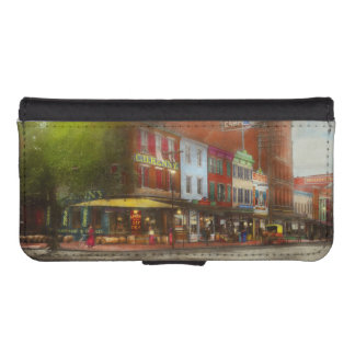 City - Washington DC - Life on 7th St 1912 iPhone SE/5/5s Wallet Case