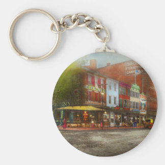 City - Washington DC - Life on 7th St 1912 Keychain