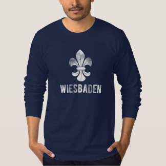 City Wiesbaden, Germany. Lilies Logo. T-Shirt