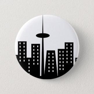 Cityscape 2 Inch Round Button