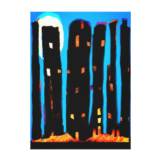 Cityscape Abstract Canvas Print