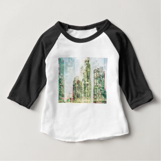 Cityscape and forest baby T-Shirt