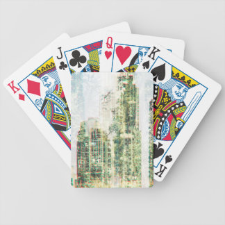 Cityscape and forest bicycle playing cards