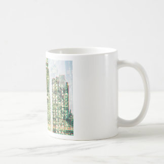 Cityscape and forest coffee mug
