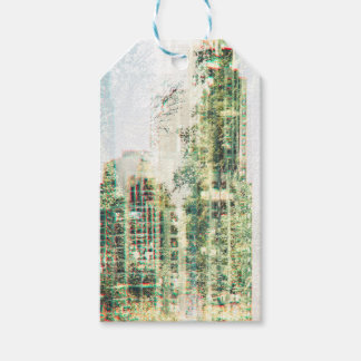 Cityscape and forest gift tags