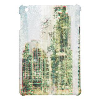 Cityscape and forest iPad mini cover