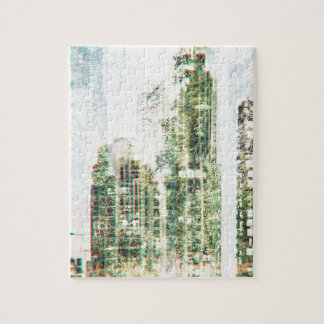 Cityscape and forest jigsaw puzzle