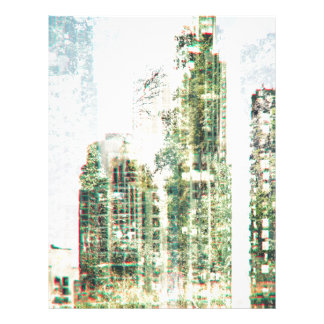Cityscape and forest letterhead