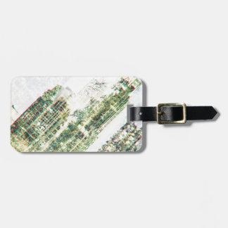 Cityscape and forest luggage tag
