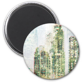 Cityscape and forest magnet