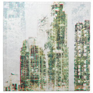 Cityscape and forest napkin