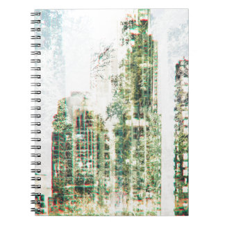 Cityscape and forest notebook