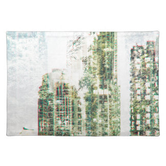 Cityscape and forest placemat