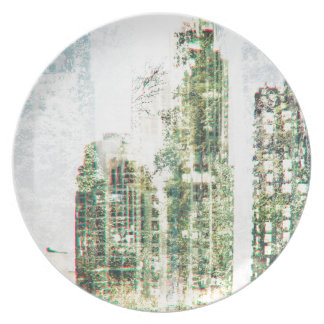 Cityscape and forest plate