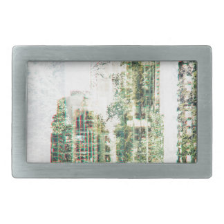 Cityscape and forest rectangular belt buckle