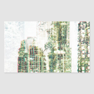 Cityscape and forest sticker