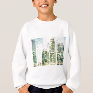 Cityscape and forest sweatshirt
