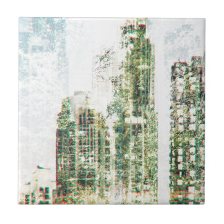 Cityscape and forest tile