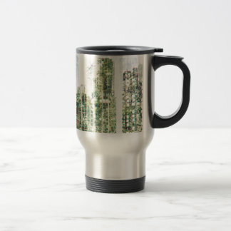 Cityscape and forest travel mug