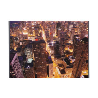 Cityscape at night of Chicago iPad Mini Covers