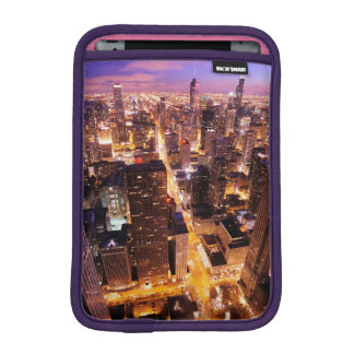 Cityscape at night of Chicago Sleeve For iPad Mini