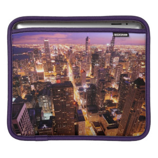 Cityscape at night of Chicago Sleeves For iPads
