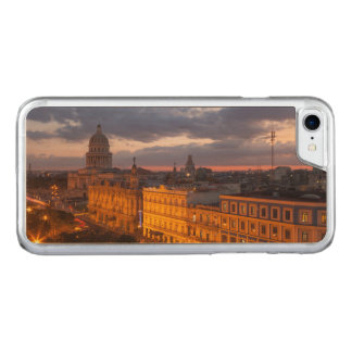 Cityscape at sunset, Havana, Cuba Carved iPhone 8/7 Case