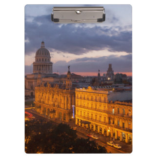 Cityscape at sunset, Havana, Cuba Clipboard