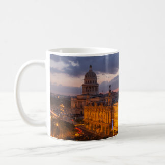 Cityscape at sunset, Havana, Cuba Coffee Mug