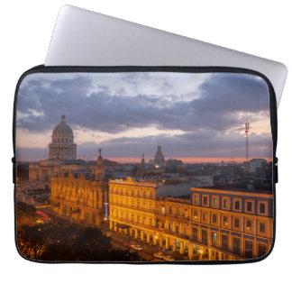 Cityscape at sunset, Havana, Cuba Laptop Sleeve