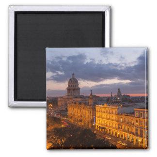 Cityscape at sunset, Havana, Cuba Magnet