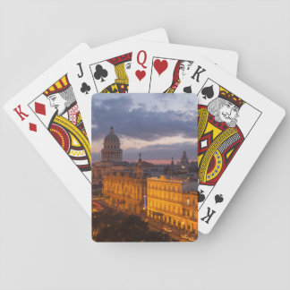 Cityscape at sunset, Havana, Cuba Playing Cards