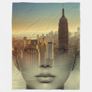 Cityscape Beauty Fleece Blanket