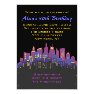 CITYSCAPE Birthday party Invitation