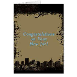 Cityscape, Congratulations on new job Card