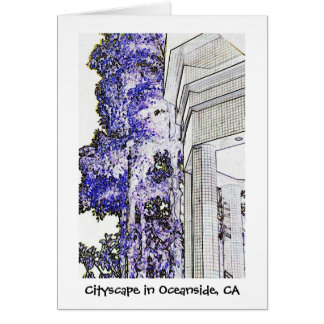 Cityscape in Oceanside, CA Card