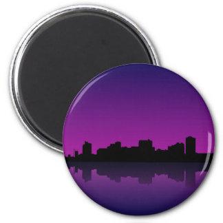 cityscape refrigerator magnet