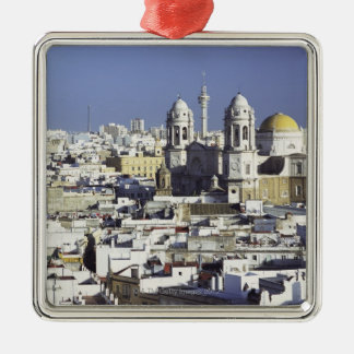 Cityscape of Cadiz, Spain Metal Ornament
