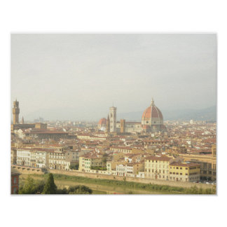Cityscape of Florence, Italy Poster