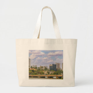 Cityscape of Recife, Pernambuco Brazil Large Tote Bag