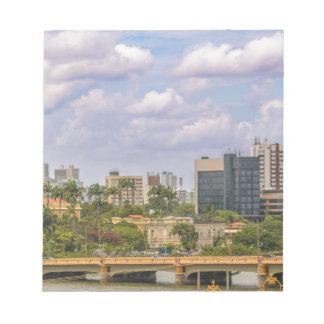 Cityscape of Recife, Pernambuco Brazil Notepad