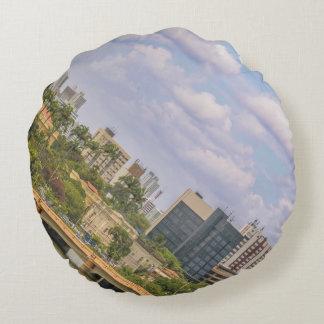 Cityscape of Recife, Pernambuco Brazil Round Pillow